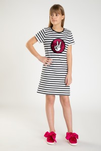 Sukienka z odwracalnymi cekinami