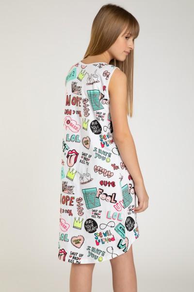 Sukienka w kolorowe nadruki