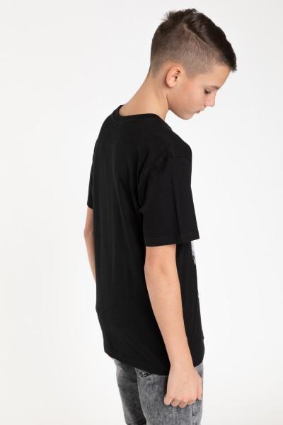 Czarny T-shirt z nadrukiem SILENCE