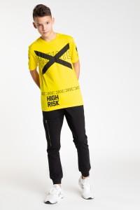 Żółty chłopięcy T-shirt HIGH RISK