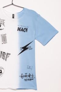 Dwukolorowy T-shirt SURF dla chłopaka
