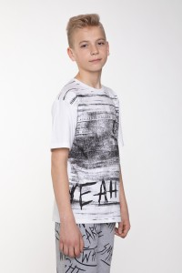 Biały T-shirt z nadrukiem dla chłopaka