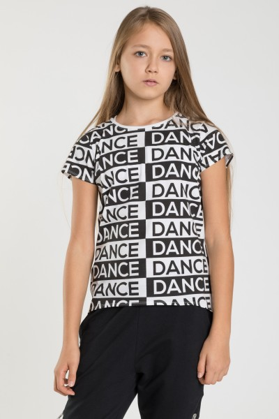 T-shirt we wzory DANCER