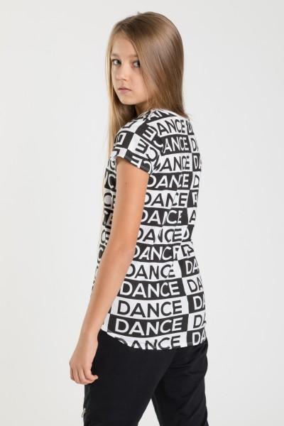 T-shirt we wzory DANCER