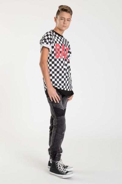 Biało-czarny T-shirt dla chłopaka DARE