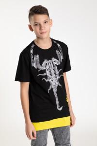 Czarny T-shirt dla chłopaka SKORPION