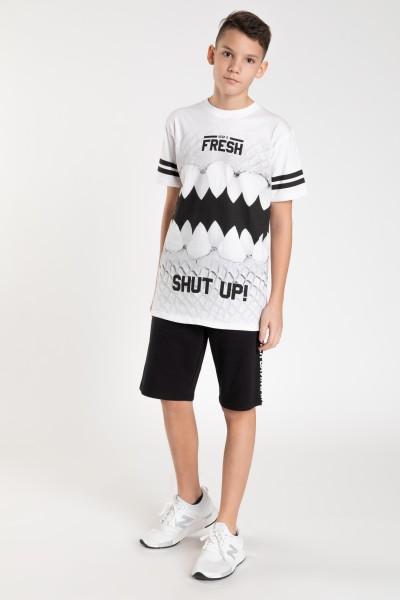 Biały T-shirt z nadrukami dla chłopaka FRESH