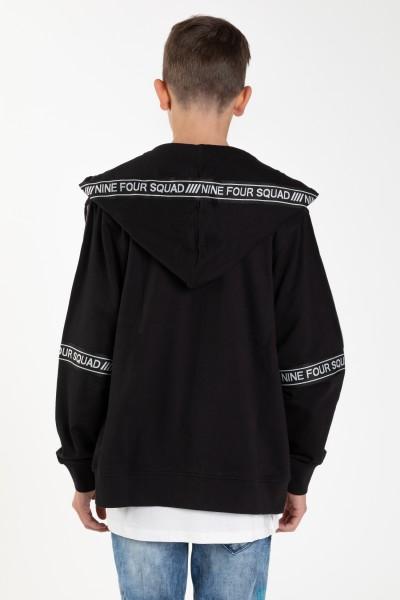 Czarna bluza z kapturem dla chłopaka ACCEPT