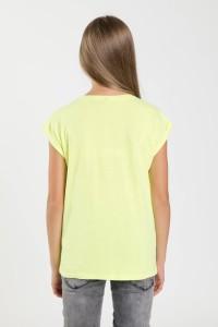 Limonkowy T-shirt EMOTIKON