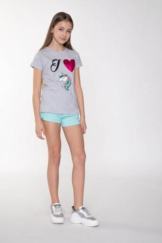Błękitne szorty dla dziewczyny