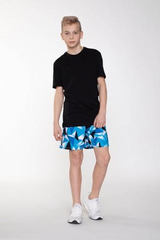 Krótkie spodnie w geometryczny wzór dla chłopaka