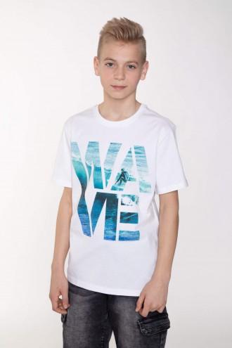 Biały T-shirt fdla chłopaka WAVE
