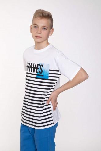 T-Shirt w paski dla chłopaka WAVES