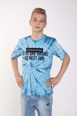 Niebieski chłopięcy T-shirt