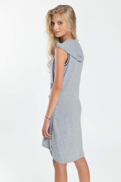 c4a0d827c9 Szara sukienka dla dziewczyny