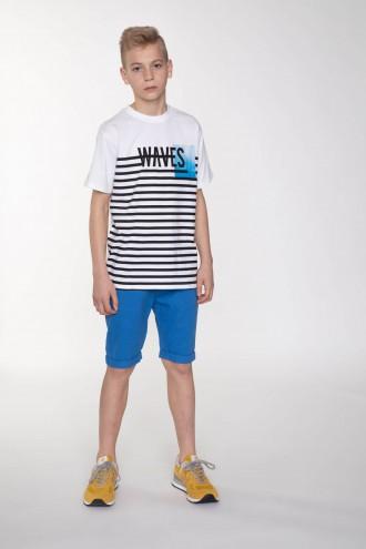 Niebieskie krótkie spodnie dla chłopaka