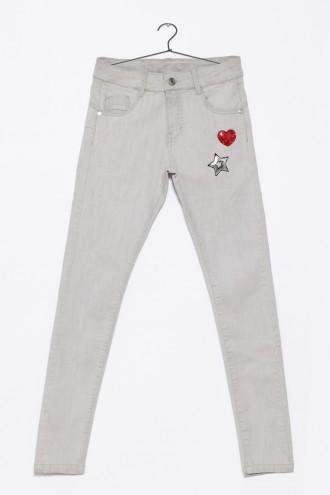 Spodnie dla dziewczynki szare