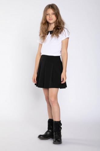 Czarna plisowana spódniczka