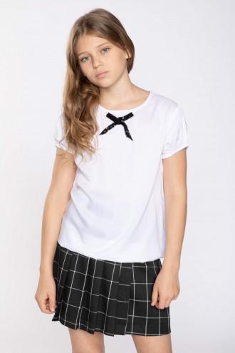 Biały T-shirt dla dziewczynki