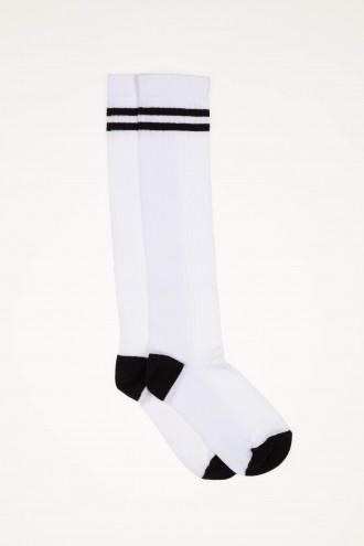 Biało-czarne podkolanówki