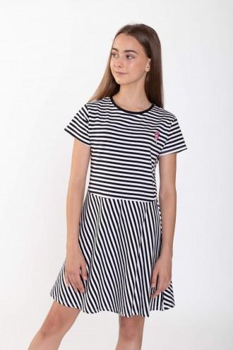Sukienka w biało-czarne paski
