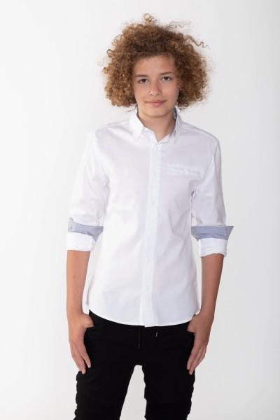 64079c951d442e Koszule chłopięce młodzieżowe: wizytowe, białe, slim, w kratę ...