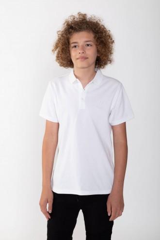 Chłopięca biała koszulka polo RY