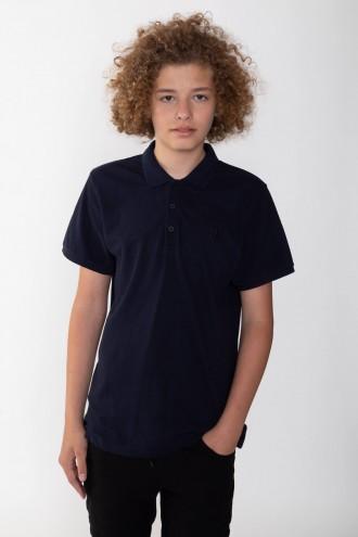 Chłopięca granatowa koszulka polo RY