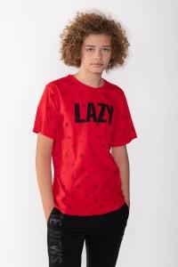 Limonkowy T-shirt dla chłopaka LAZY