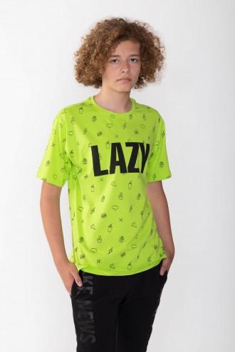 Zielony T-Shirt dla chłopaka LAZY
