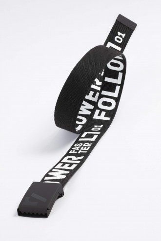 Czarny pasek do spodni FOLLLOW
