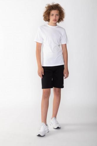 Klasyczne czarne krótkie spodnie dla chłopaka