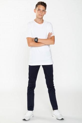 Klasyczne granatowe spodnie dla chłopaka SLIM