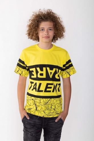 Żółty T-shirt dla chłopaka RARE TALENT