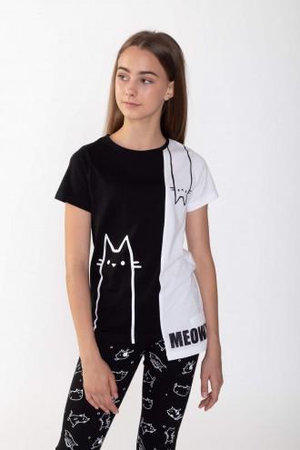 Asymetryczny T-shirt CAT