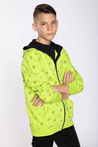 Limonkowa bluza dla chłopaka POP FOOD