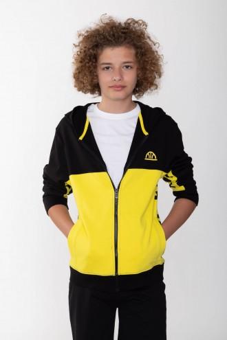 Czarno-żółta bluza dla chłopaka GOALS
