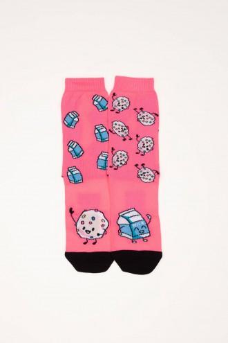 Różowe skarpetki dla dziewczyny MILK