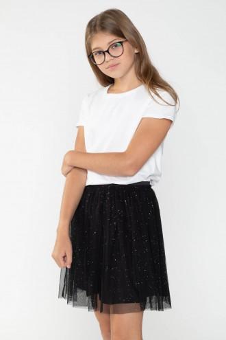 Klasyczny biały T-shirt dla dziewczyny