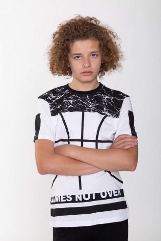 T-shirt w nadruki dla chłopaka BASKETBALL