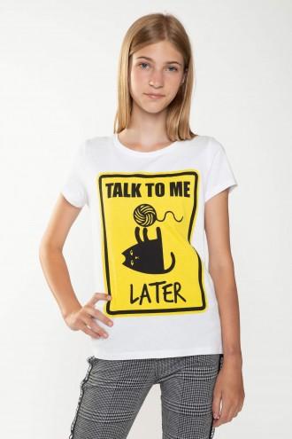 T-shirt z nadrukiem dla dziewczyny