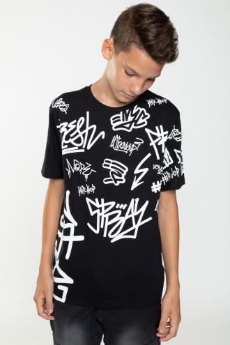 T-shirt w nadruki GRAFFITI