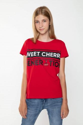 Czerwony T-shirt SWEET CHERRY