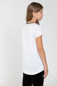 Biały T-shirt dla dziewczyny NEW YORKIE