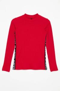 Czerwony T-shirt long sleeve dla dziewczyny