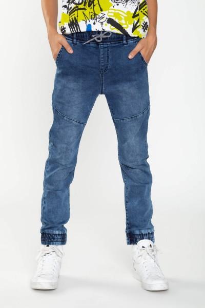 Chłopięce jeansowe joggery z przeszyciami