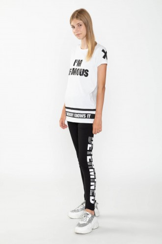 Czarne legginsy DETERMINED