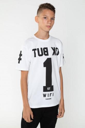 Biały T-shirt dla chłopaka BUT OK