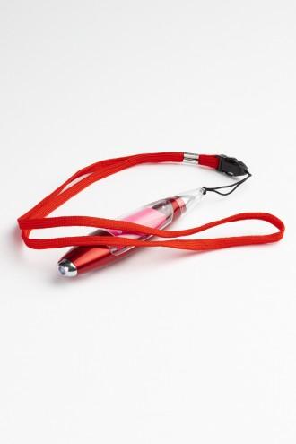 Czerwony długopis latarka