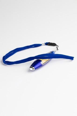 Granatowy długopis latarka